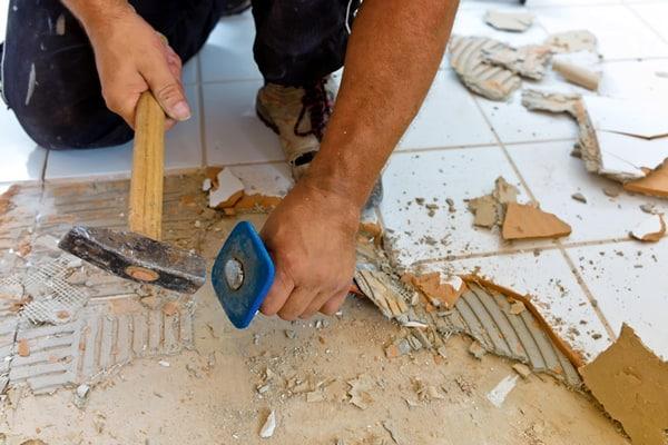 floor tile removal